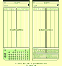 Amano MJR Time Cards 600-849