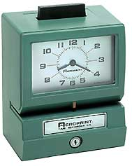 Acroprint 125RR3 Heavy Duty Time Clock