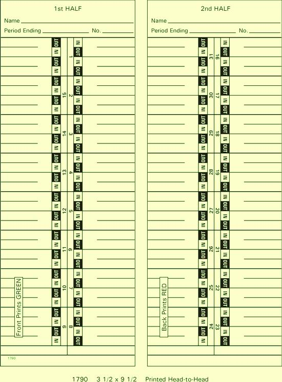 1790 Time Cards