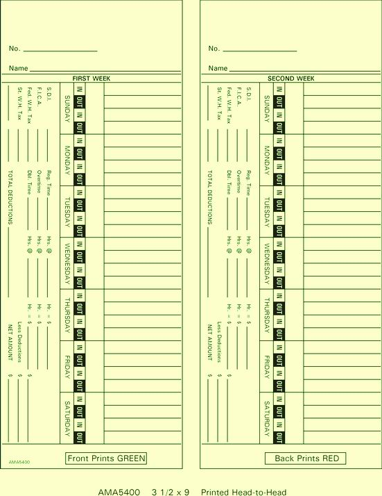 AMA5400 Time Cards