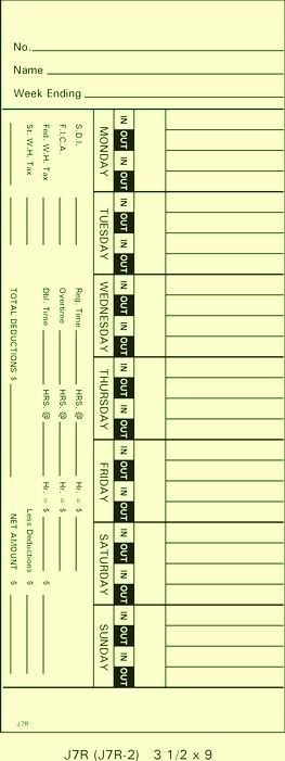 J7R Time Cards