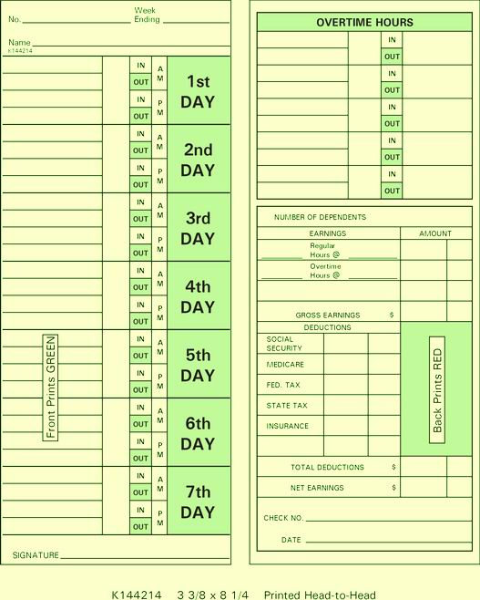 K144214 Time Cards