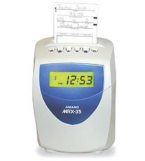 Amano MRX-35 Electronic Calculating Time Clock